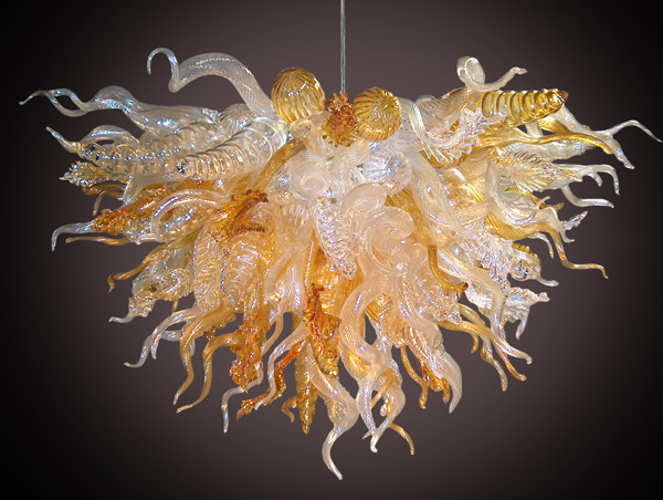 AC 110/120/220/240 V bombillas LED sopladas a mano Murano cristal Hotel vestíbulo araña