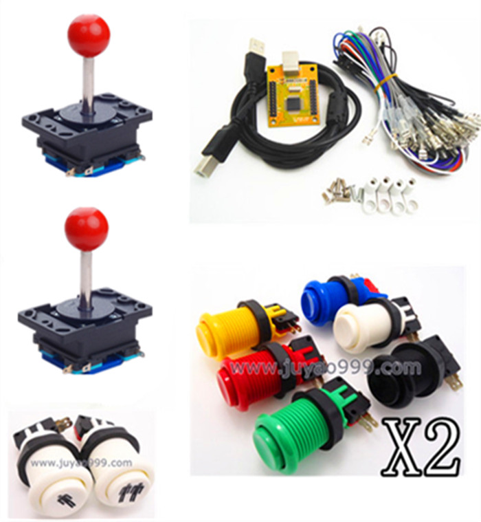ФОТО  1 kit for Juyao Arcade to USB controller 2 player MAME Multicade Keyboard Encoder, USB to Jamma, game controller