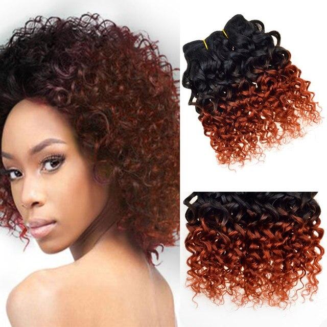 7a Brazilian Virgin Hair Ombre Curly Weave 1b 350 Short Bob Full