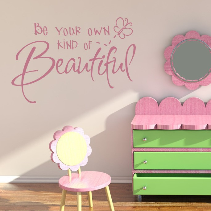 Be Your Own Kind Of Beautiful Wall Art sell on ebay be your own kind of beautiful beauty girl quotes