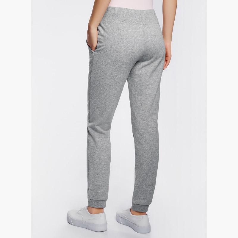 Oodji 2017 женские трикотажные спортивные брюки, бесплатная доставка из россии, 16700030-15b/46173