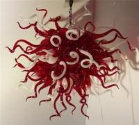 Toptan Kırmızı ve Beyaz Kristal Led Cam Akıllı Avize Otel lobi dekorasyonu|Avizeler|Işıklar ve Aydınlatma -