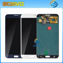 Para Samsung para la galaxia E7 E7000 SM-E700F pantalla LCD y pantalla táctil digitalizador asamblea blanco azul envío gratis con herramienta
