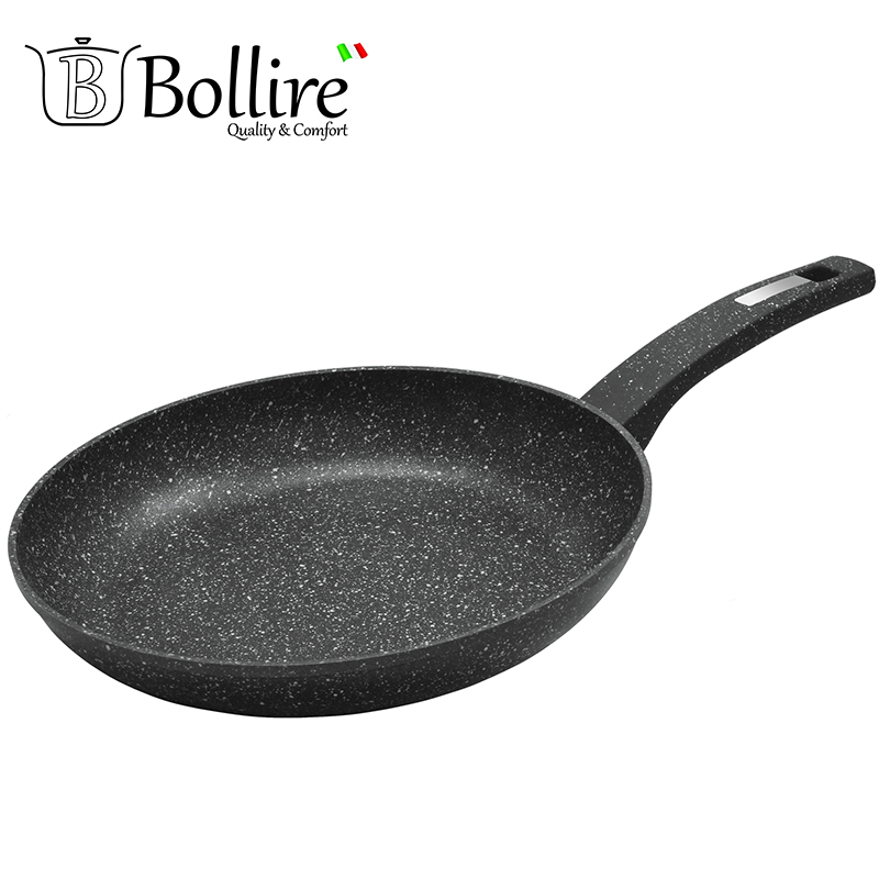 BR-1007 Pan Bollire VENEZIA FULL INDUCTION BOTTOM Non-stick layer Frying Pan High quality Flat bottom cookware br 1010 pan deep frying bollire full induction bottom non stick layer frying pan high quality flat bottom cookware