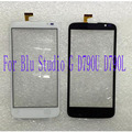 Preto branco da tela de toque para blu studio g d790u d790l 5.0 ''pop sensor do painel de toque digitador lente de vidro de substituição