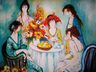 Franck L Mano Tea Party Dipinti Ad Olio Art Deco Famosi Artisti ...