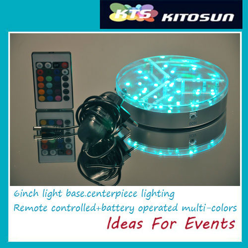 Remote controlled rechargeable 6inch light base
