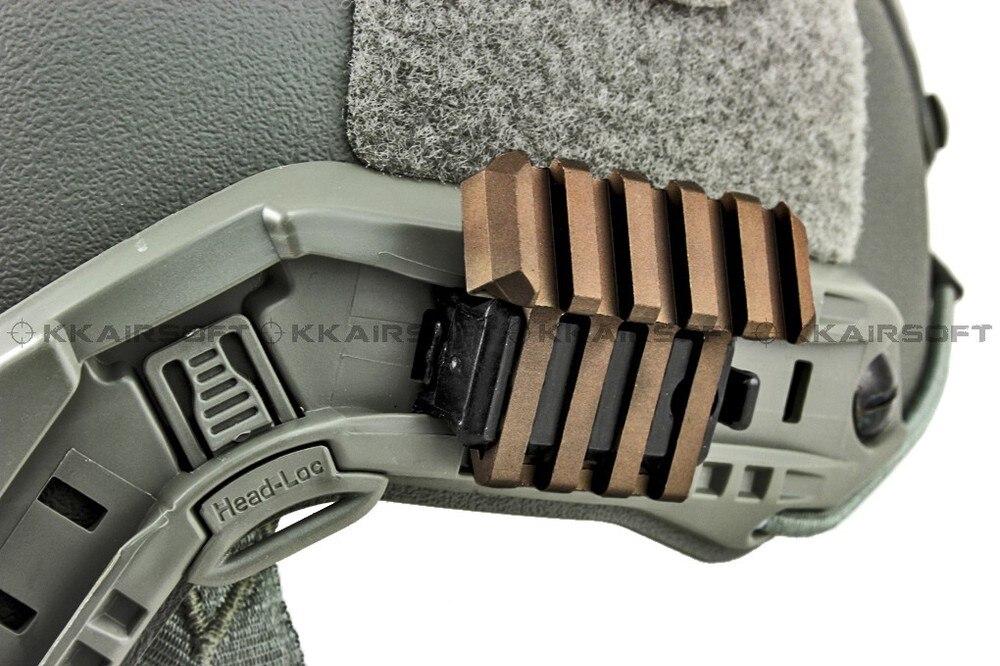 Быстрые аксессуары для шлема дуга шлема Крепление Боковое крепление для быстрого шлема(Dark Earth BK) bd5674a