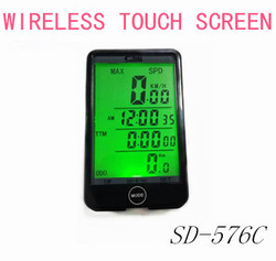 Touch Screen Backlight SD-576C Wireless  waterproof Computer Bicycle Accessories  Odometer Speedometer Clock Stopwatch