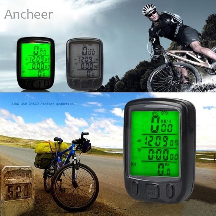 Waterproof Multifunction Cycling Computer Bicycle Speedometer Odometer LCD Backlight Backlit Bike Computer