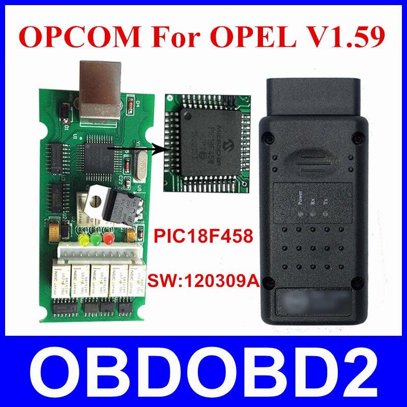 OP COM Opcom For OPEL Firmware V1 59 PIC18F458 Diagnostic Tool OP COM For OPEL 120309A