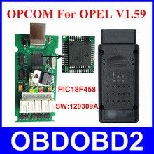 Herramienta de Diagnóstico de OP COM Opcom Para OPEL Firmware V1.59 PIC18F458 120309A CAN BUS Interfaz Mejor Que V1.45 OP-COM Para OPEL