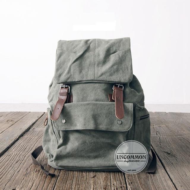 Nuevo Cuero de la Lona bolsas de viaje de Los Hombres/Mujeres Casual Duffle del Recorrido del hombro bolsa de Ordenador Portátil mochila de Gran Capacidad Mochila