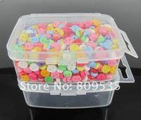 бесплатная доставка 800 шт. смешанные мини расход смолы кнопки 6.0 мм + прозрачный ящик для хранения