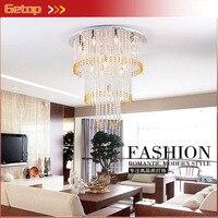 ZX Modern K9 Crystal Cake Shape Pendant Lamp Fixtures Luxury Lustres E14 LED Lights For Double