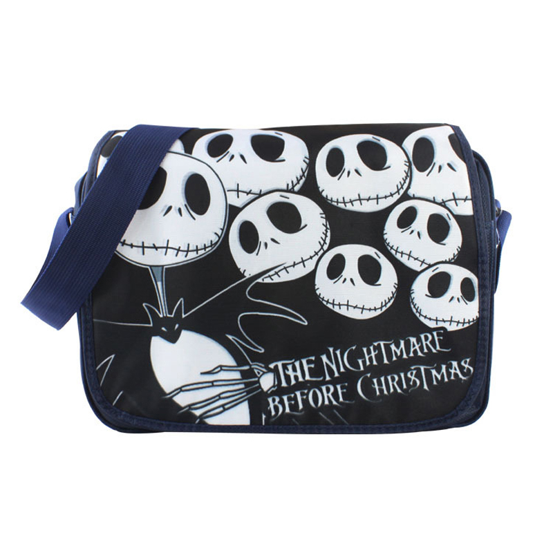 The Nightmare Before Christmas Polyester shoulder bag Messenger Bag Jack Skellington Type B old antique bronze the nightmare before christmas design pocket watch with necklace chain free shipping
