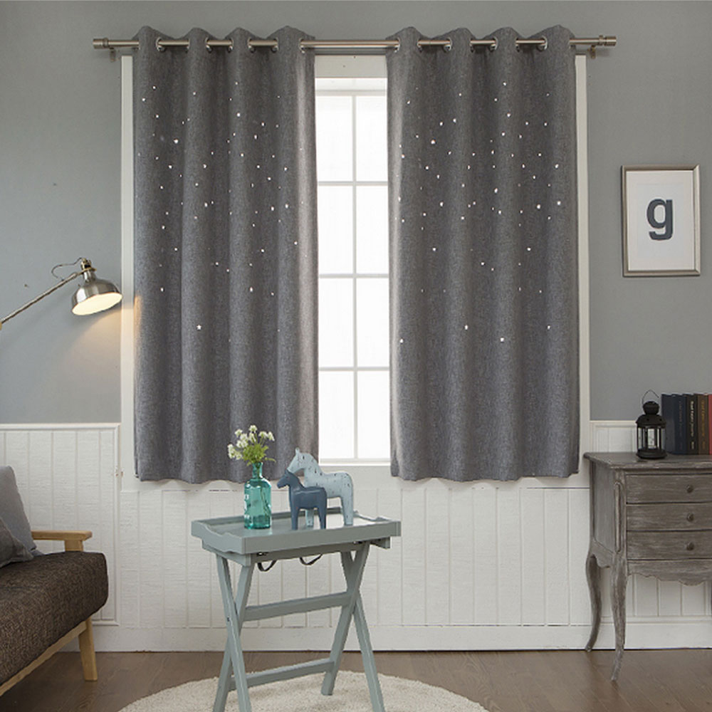 polyester homefab brown curtain product single contemporary eyelet india buy window