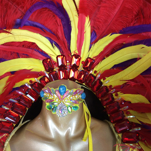 Image 4 - משלוח חינם 2016 מכירת חמה ריו קרנבל סמבה סקסיות תלבושות head נוצה צהובה חתיכה