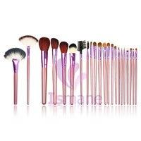 ISMINE 22pcs purple makeup brush set animal hair Soft Makeup Brushes Foundation Eye Face Cosmetic Make Up Brush Tool Kit+Bag