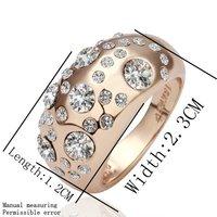 18kgp 18 к позолоченные кольцо здоровье золотой горный хрусталь австрийский УПК 036