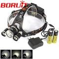 Boruit RJ-5000 8000Lm 3x XM-L2 USB Rechargeable 3L2  Headlamp HeadLight Torch USB Lamp+18650+Charger