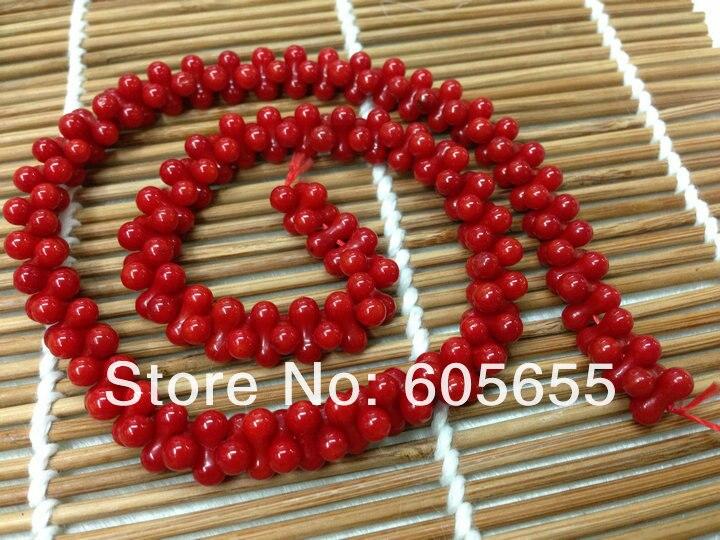 3x6 мм Красного моря бамбук Коралл формы арахиса Бусины для ювелирных изделий 10strands за лот