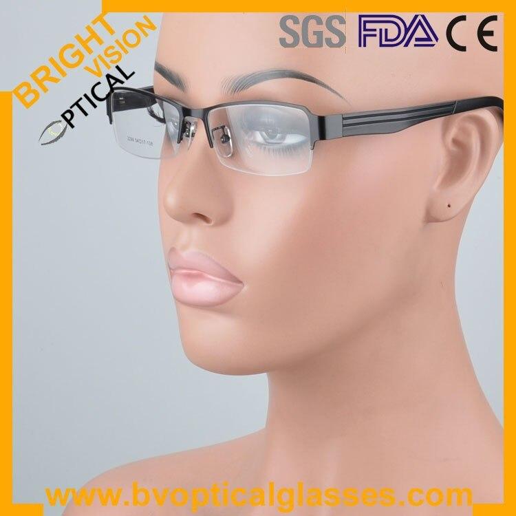 2299blackwear Factrory price half rim vintage optical frames eyewear glasses