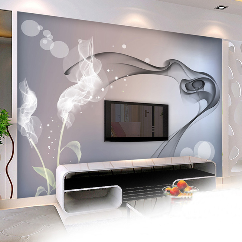 Us 8 69 53 Off Custom Mural Wallpaper Personalized Non Woven Wall Covering Abstract Modern Minimalist Black And White Tv Backdrop Wallpaper In