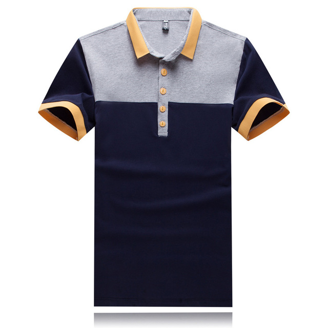 Short Sleeve Polo Shirt Men Brand Casual Slim Fit Polo Shirt Splice Hit Color Polo Homme Marque Turn Down Collar Camisa Polo Men