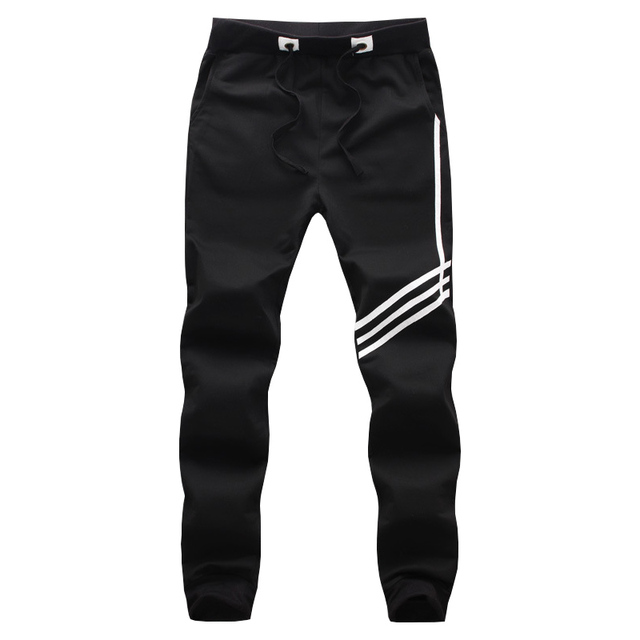 2016 New LetKeep men's Track Pants Black HIP HOP Trouser with elastic cuffed baggy cargo sweatpants for harajuku men M-5XL,MA033