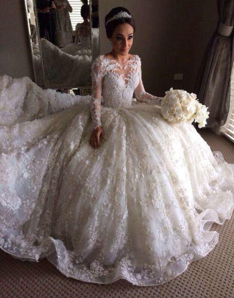 Omy035 luxury muslim wedding dress dubai bridal gowns full for Wedding dresses in dubai prices