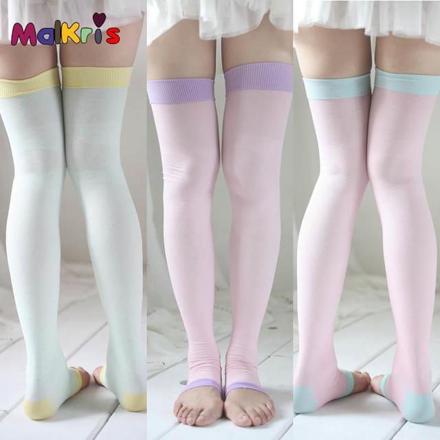 Japão sono bela perna meias perna fina ato como a compra agência pressão feminino