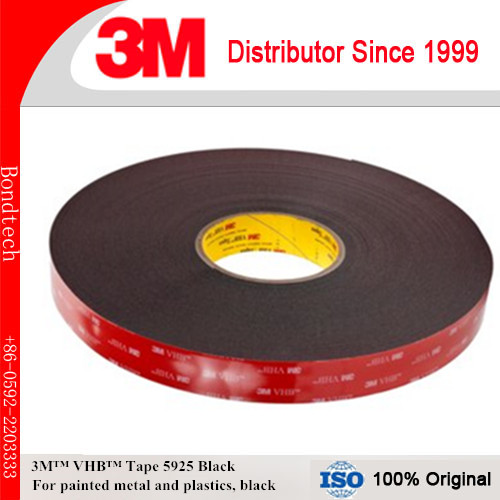 3M VHB Heavy Duty Mounting Tape 5925 Black, 1 in x 36 yd 25.0 mil 3m positionable mounting adhesive 24 in x 50 ft clear 56824 dmi rl