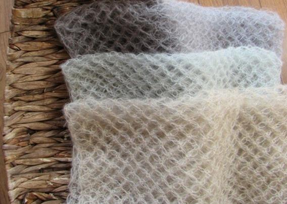 Handmade Crochet Mohair Wrap Baby Swaddle Cocoon Newborn Backdrop