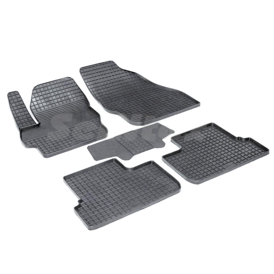 Rubber grid floor mats for Mazda 3 BL 2009 2010 2011 2012 2013 Seintex 81779 rubber grid floor mats for honda accord viii 2008 2009 2010 2011 2012 seintex 00758
