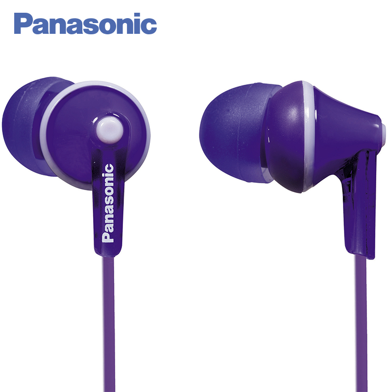 Panasonic RP-HJE125E-V In-ear earphone wired, headset fone. kz zs5 zst 2dd 2ba hybrid in ear earphone hifi dj monitor running sport noise cancel earphone earplug headset earbud newest