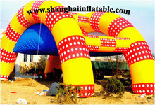 2016 giant colorful inflatable tent camping shelter from shanghai factory