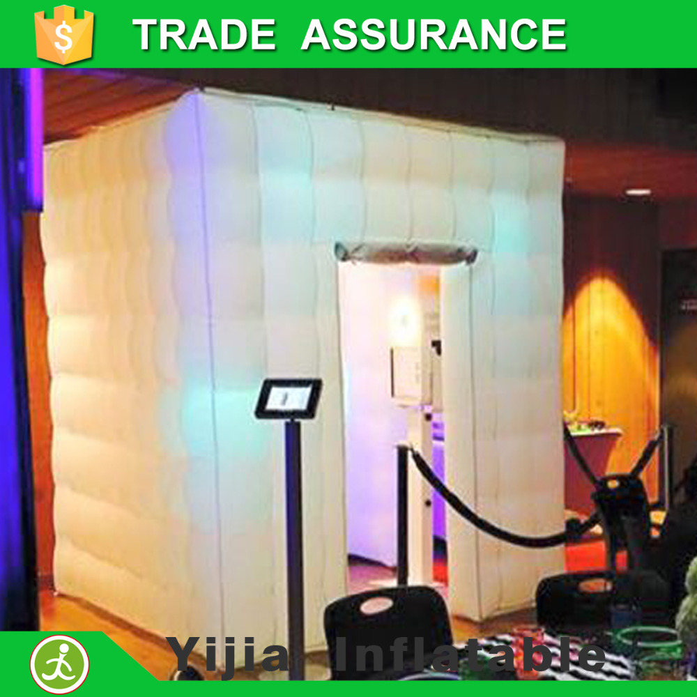 16 colors lighting cube tent portable aufblasbare photo booth china mainland