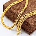 Высокое качество Золотое Ожерелье позолоченный Моды звезды Ссылка Хип-Хоп Рэп Франко кубинский Цепи Себе ожерелье мужчины ювелирные изделия 2016