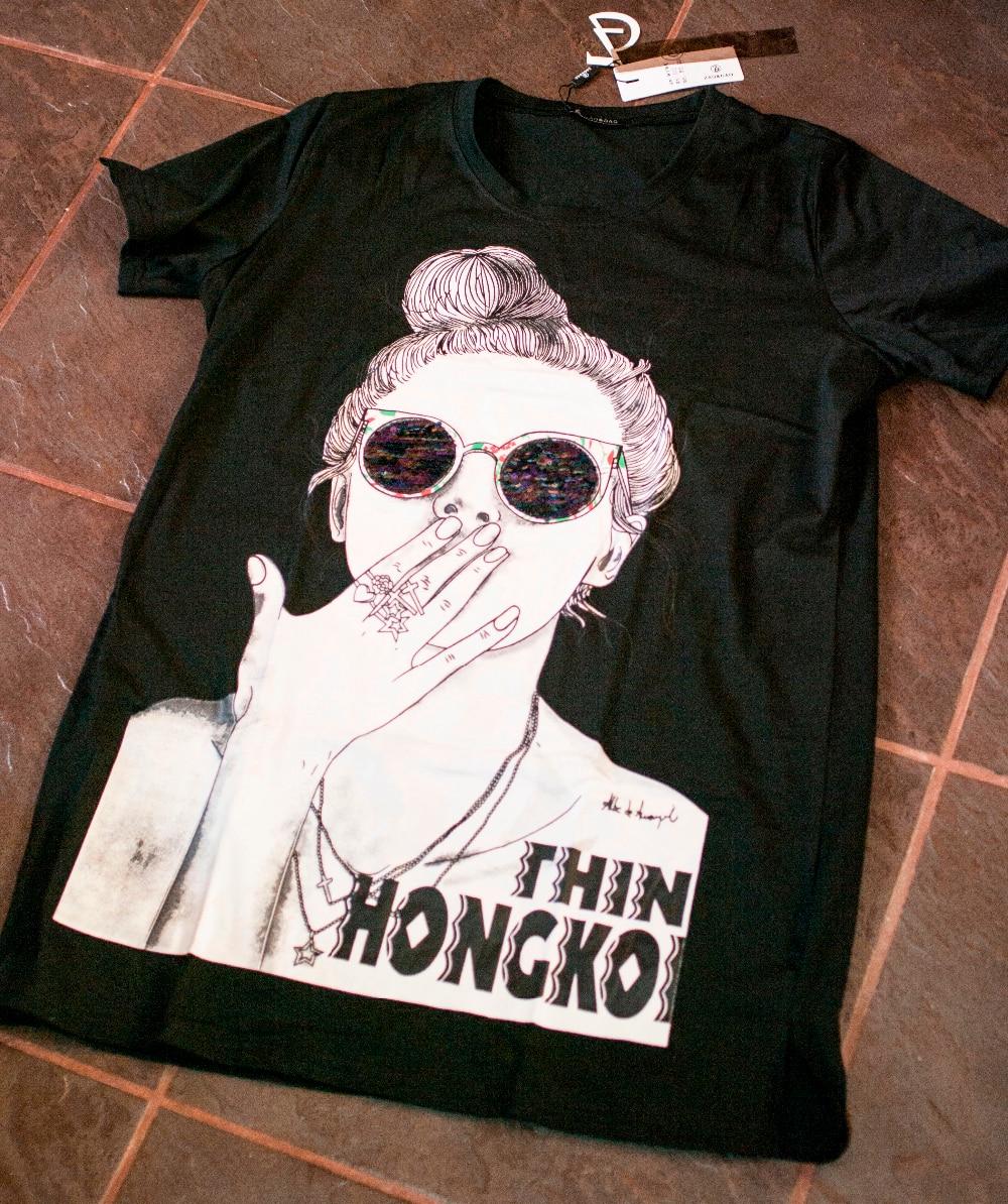 ЖЕНСКАЯ ФУТБОЛКА С ИНТЕРЕСНЫМ ПРИНТОМ от магазина ZaoDao Women Cloths