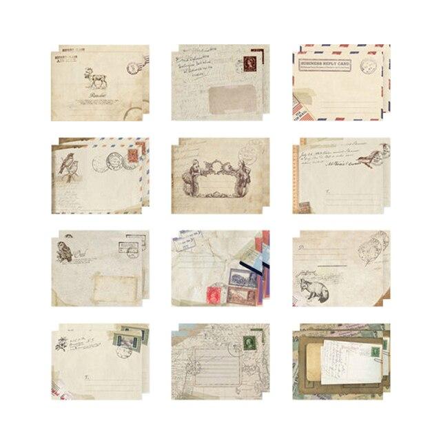 12 Pcs/ensemble New Vintage Mignon Kawaii Mini Papier Enveloppe Rétro Enveloppes Style DIY Carte Scrapbooking Partie Cadeau Coréenne Papeterie