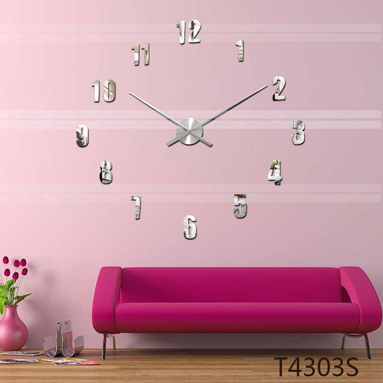TIMELIKE DIY 3D Wall Sticker Clock Home Decor Large Clock Hands and ...
