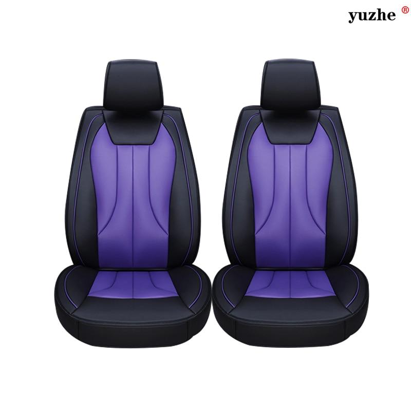 2 pcs Leather car seat covers For Fiat Viaggio 2015 500 Uno Palio Bravo Siena 126P Idea Sedici Panda car accessories car styling for fiat 500 idea uno panda ottimo bravo palio punto brand leather black car seat cover front