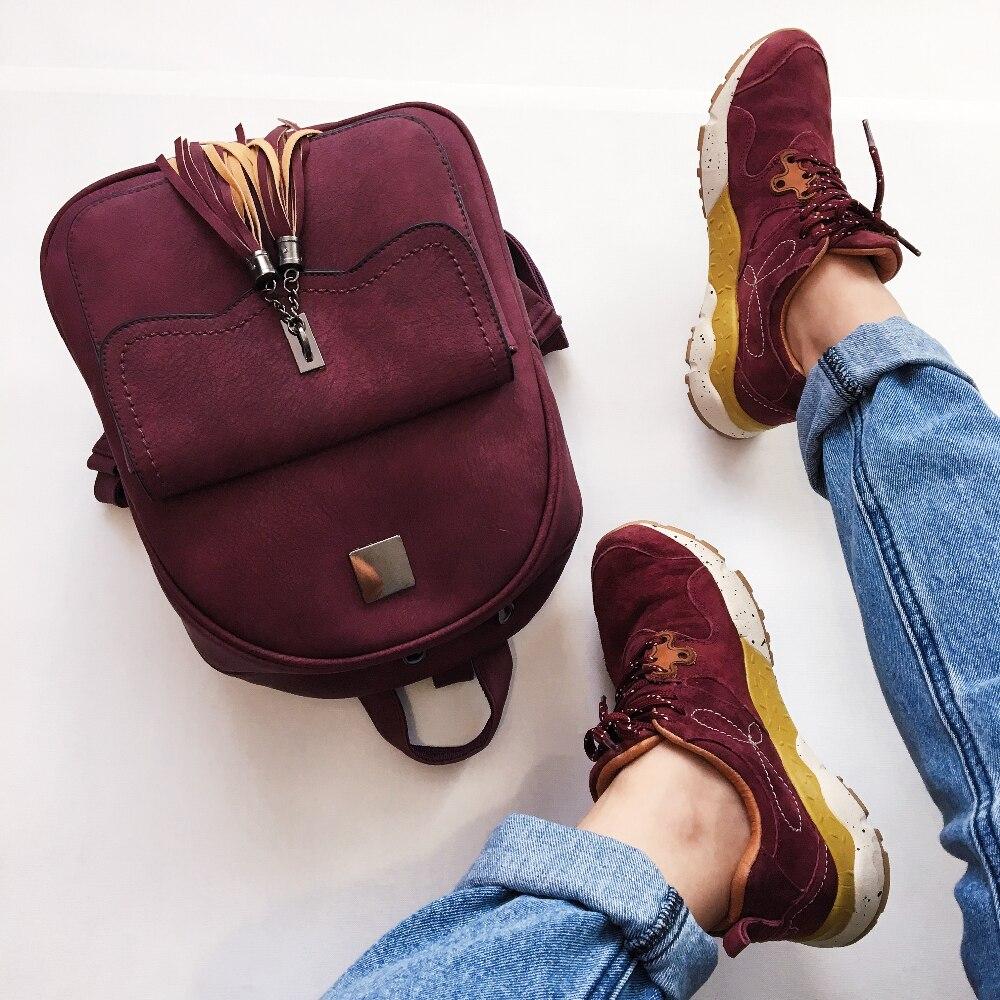 «Замшевый» рюкзак с кисточками с Алиэкспресс