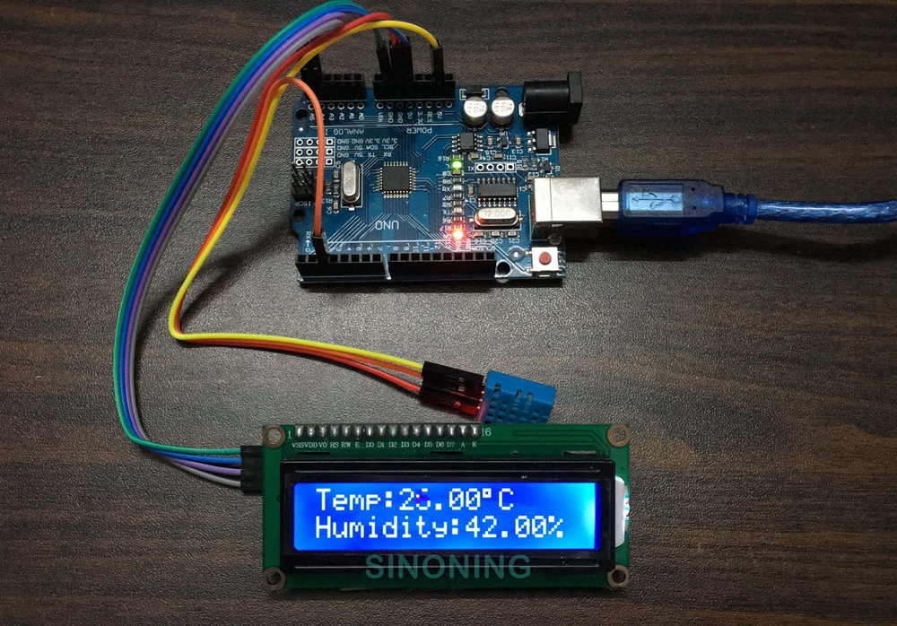 Arduino LCD1602 I2C DHT11 hygrothermograph Hygrometer DIY kit Smart Home