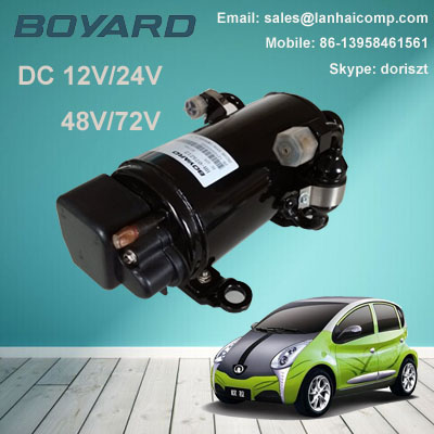 Zhejiang boyard R134A 12v 24v dc air conditioner compressor KFB135Z24 for 0.5 ton room