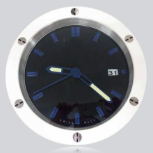 Fashion Your House Cowboy Stylish Clock Wall White Black Tone Stainless Steel Watch Clocks Mute Not Tick with Calendar