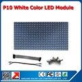 Бесплатная доставка крытый P10 один белый цвет из светодиодов дисплей 320 * 160 мм 32 * 16 пикселей