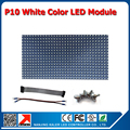 free shipping indoor P10 single white color LED display module 320*160mm 32*16 pixels