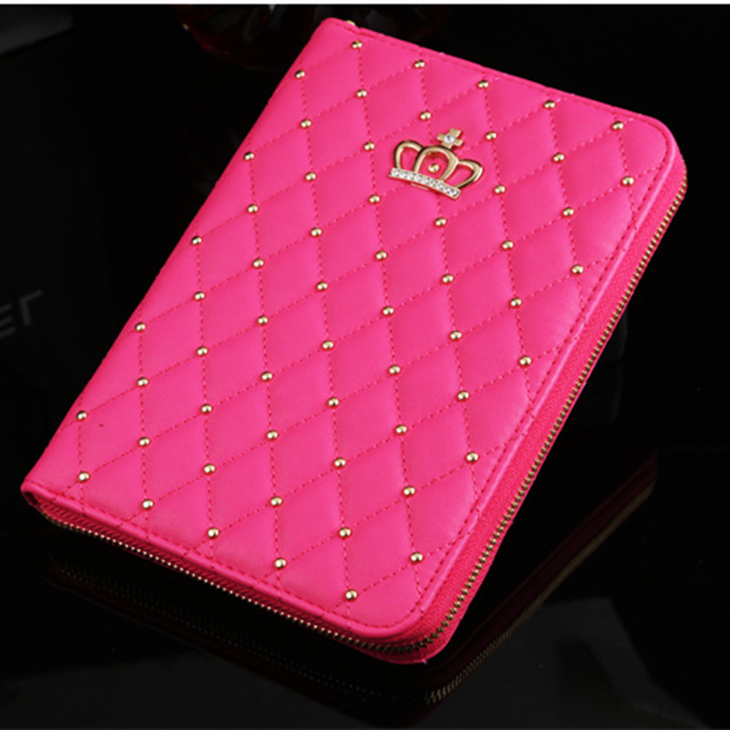 Fashion 360 Rotating Diamond Crown Pearl with Chain for iPad Air Multi-function 2 in 1 Tablet Case for iPad 5 Cover CL337